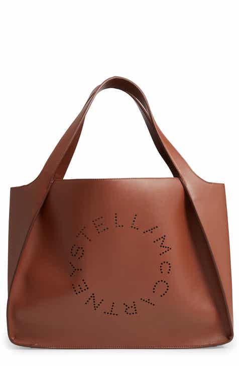 5886928126 Stella McCartney Medium Perforated Logo Faux Leather Tote