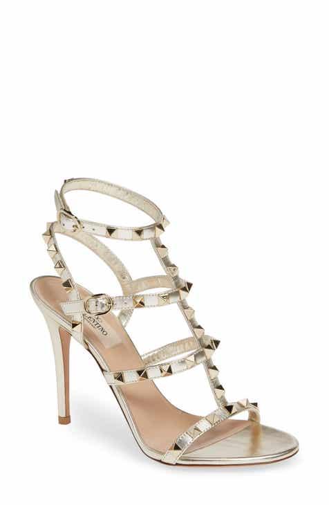 ff3b437a133 VALENTINO GARAVANI Rockstud Metallic Ankle Strap Sandal (Women)