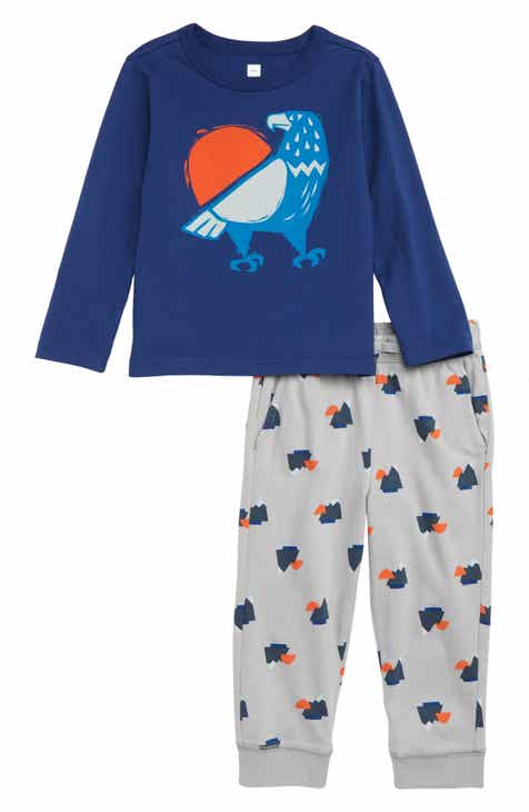 Tea Collection Eagle Graphic T-Shirt & Sweatpants Set (Baby)
