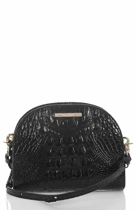 7e4a0a34069b Brahmin Leah Croc Embossed Leather Crossbody Bag