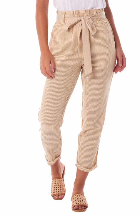 Rhythm Stripe Tie Waist Pants by RHYTHM