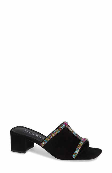 9fe49a0fe4f0 Donald Pliner Bete Crystal Embellished Slide Sandal (Women)