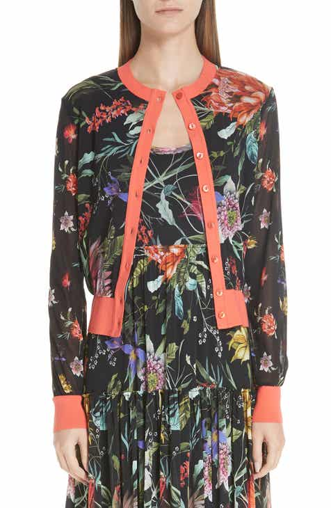 Fuzzi Floral Tulle Cardigan by FUZZI