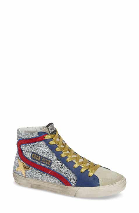 57340f2eedb3f Golden Goose Slide Glitter High Top Sneaker (Women)