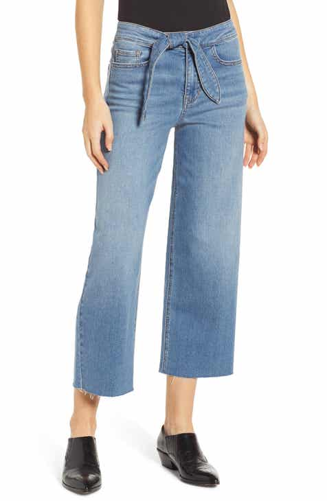 Prosperity Denim Belted Crop Wide Leg Jeans (Pretty) 75b72d28308