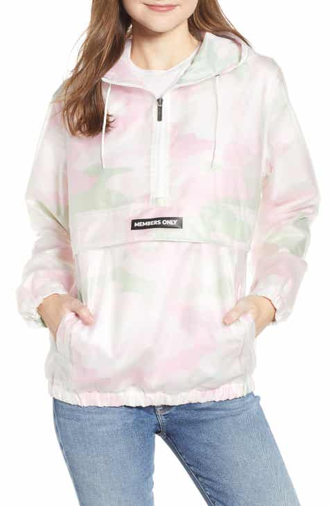 8139006d5b Members Only Camo Translucent Popover Jacket
