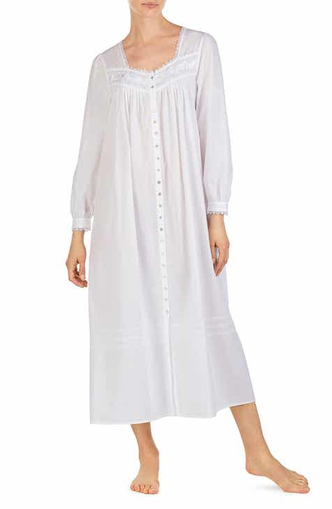 Eileen West Cotton Button Front Nightgown a3e741ec08