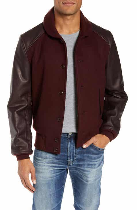 Schott NYC Wool Blend Varsity Jacket ca08461311e