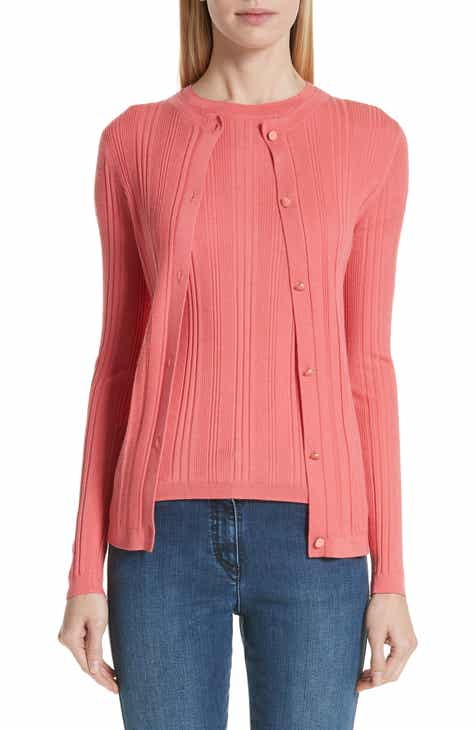 St. John Collection Variegated Ribbed Wool & Silk Cardigan by ST. JOHN COLLECTION