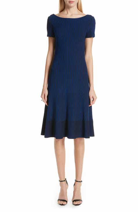 St. John Collection Ottoman Fit & Flare Sweater Dress by ST. JOHN COLLECTION
