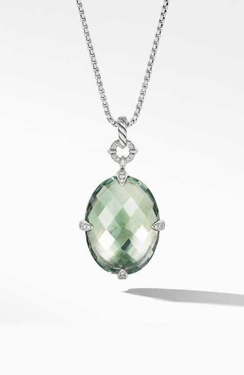 904f8191c David Yurman Statement Prasiolite Pendant Necklace with Diamonds