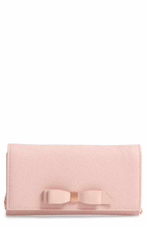 a457f926f Ted Baker London Alaine Crossbody Leather Matinée Wallet on a Chain