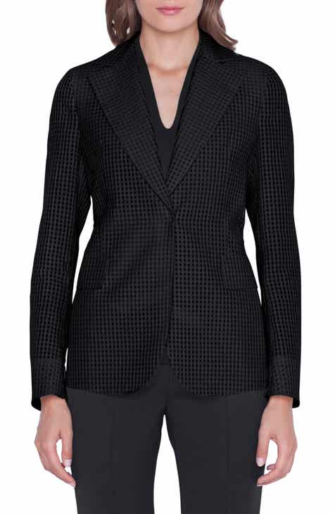 Akris Square Ajouré Silk Blazer by AKRIS