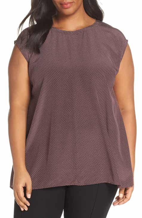 f25ce21e1b6 Eileen Fisher Silk Crêpe de Chine Top (Plus Size)