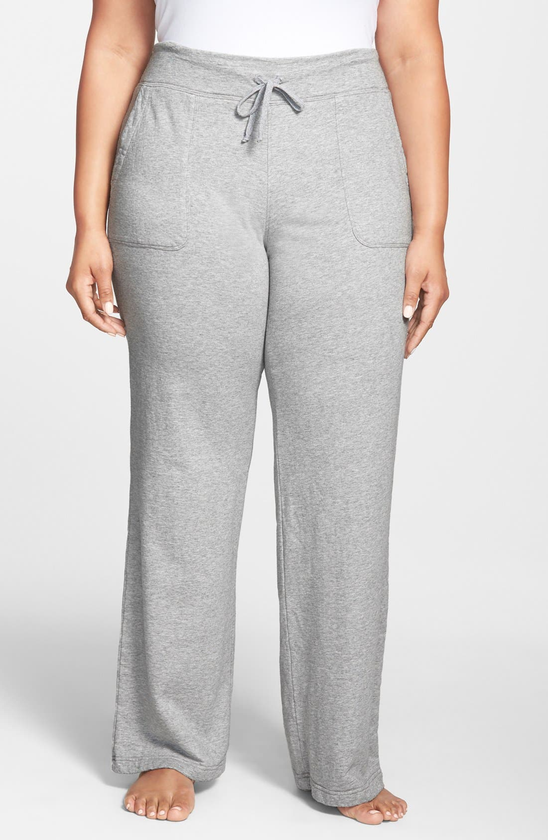 Alternate Image 1 Selected - Hard Tail Slouchy Knit Cargo Pants (Plus Size)
