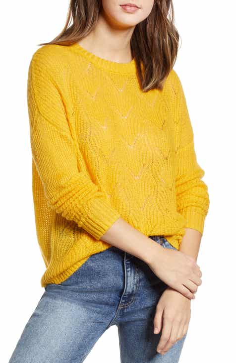 ff79cdec3389f Pointelle Stitch Sweater (Regular   Plus Size)