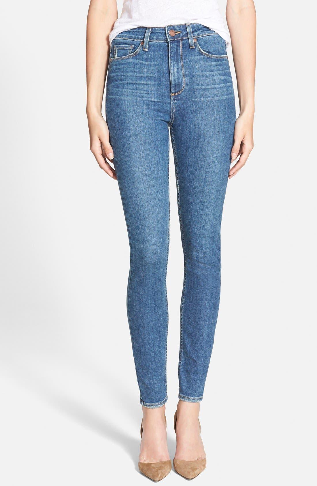 Main Image - Paige Denim 'Margo' High Rise Ultra Skinny Jeans (Mira)