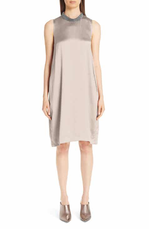 Fabiana Filippi Chain Trim Satin Dress by FABIANA FILIPPI