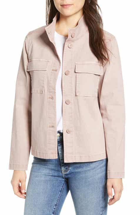 c383d048da Caslon® Short Utility Jacket (Regular   Petite)