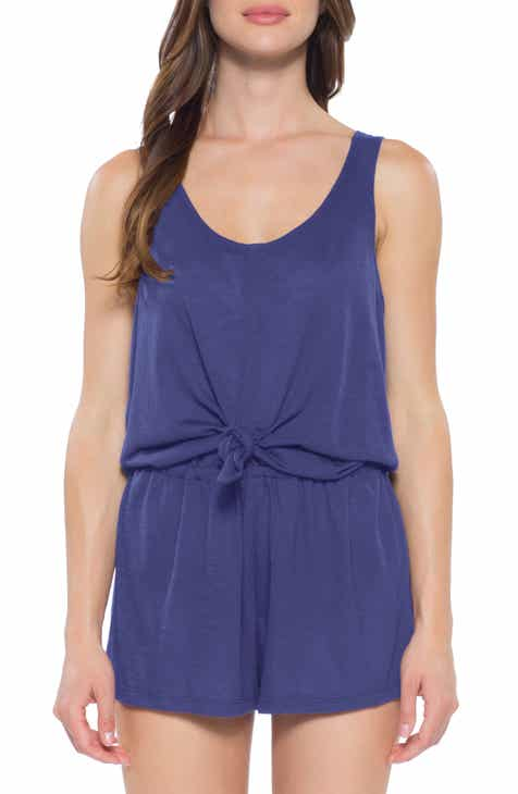 Becca Breezy Basics Knot Cover-Up Romper by BECCA
