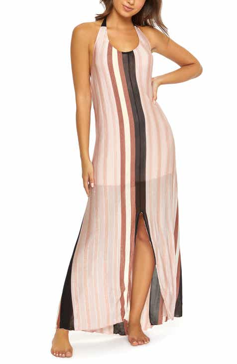 b9fd972af19d PilyQ Faith Cover-Up Halter Maxi Dress
