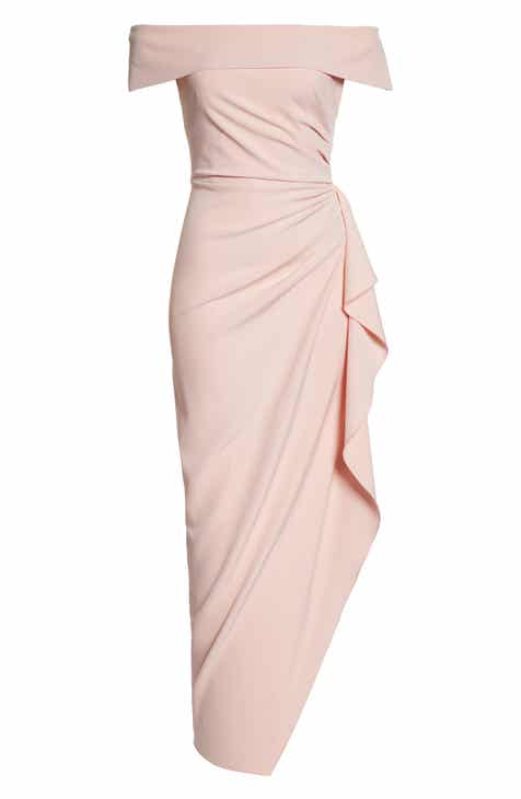 8dc2aa0041 Vince Camuto Off the Shoulder Crepe Gown