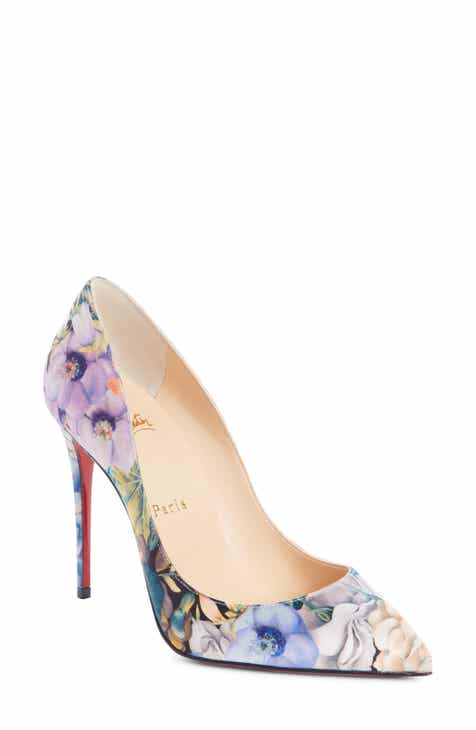 1a4ff2e5828c Christian Louboutin Pigalle Follies Floral Silk Pump (Women)