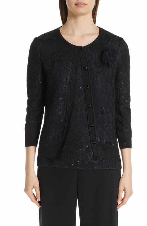 St. John Collection Stellar Gaze Jacquard Cardigan by ST. JOHN COLLECTION