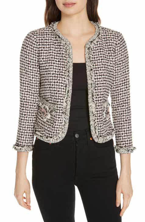 eb682673989e6a Rebecca Taylor Houndstooth Tweed Jacket