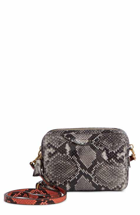 472a61a7de9b Anya Hindmarch Snake Print Leather Crossbody Wallet