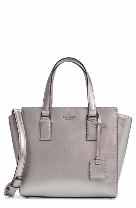 Kate Spade New York Cameron Street Small Hayden Metallic Leather Satchel