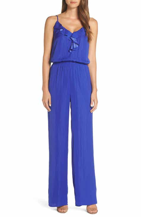 Jack Tie Shoulder Smocked Jumpsuit by JACK BY BB DAKOTA