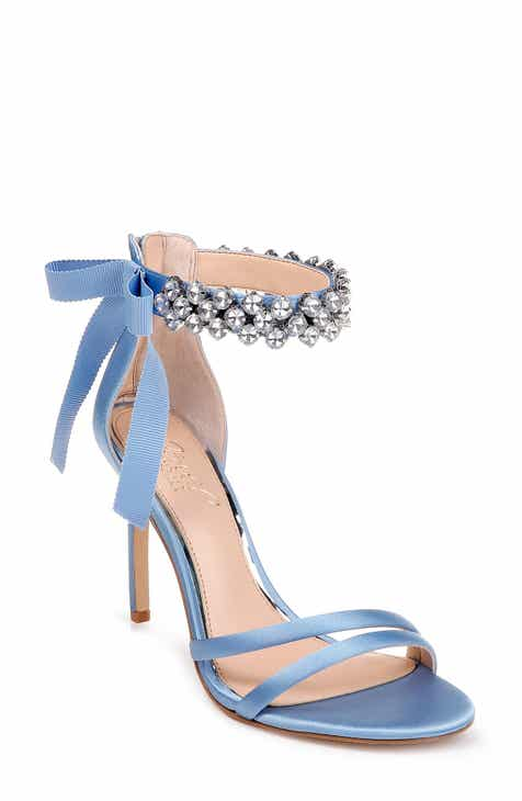 3902c143a78 Jewel Badgley Mischka Debra Ankle Strap Sandal (Women)