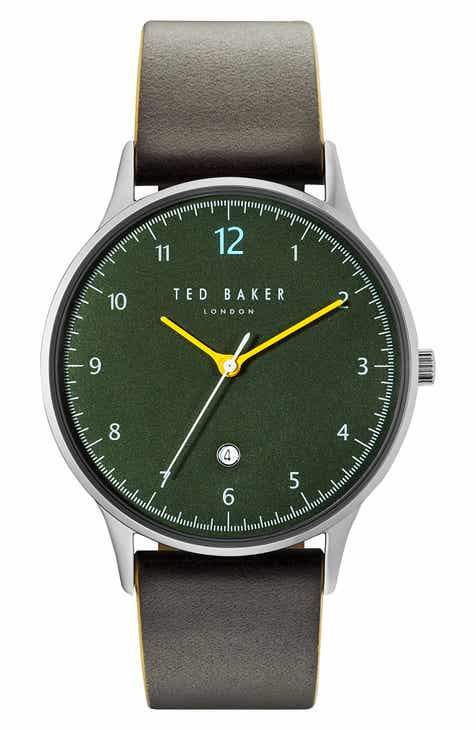664c31b24646 Ted Baker London Ethan Leather Strap Watch