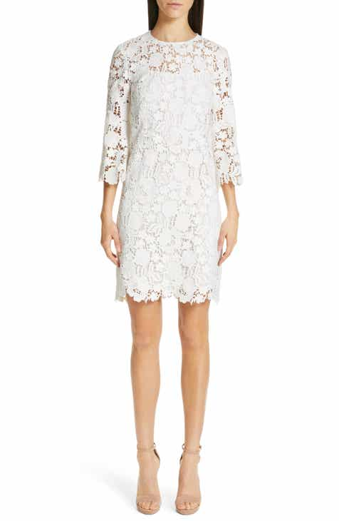 Lela Rose Floral Guipure Lace Dress by LELA ROSE