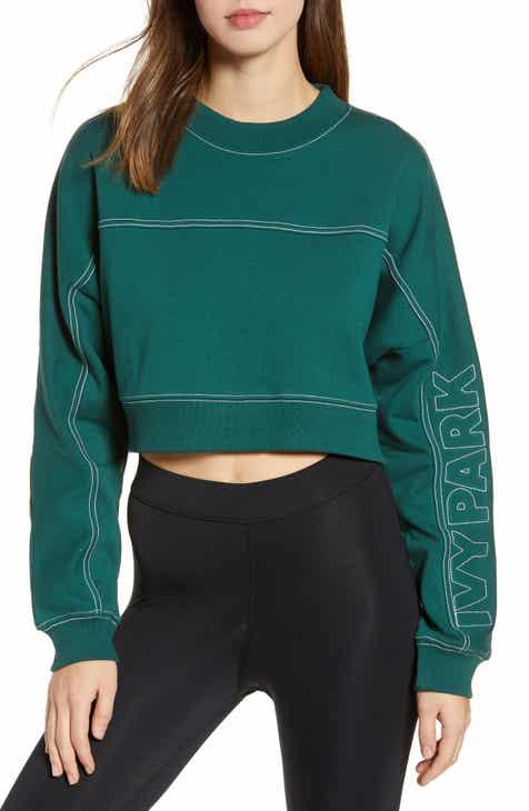 a44b8553b5f16 IVY PARK® Stab Stitch Logo Crop Sweatshirt