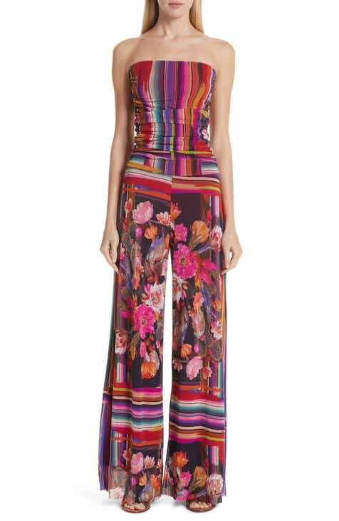 Fuzzi Cactus Tulle Strapless Jumpsuit by FUZZI