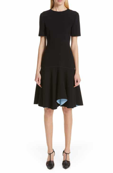 1ca211e95bda Jason Wu Collection Compact Crepe Flounce Dress