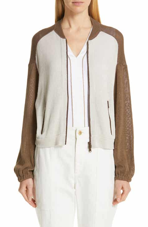 Brunello Cucinelli Colorblock Cotton Bomber Sweater By BRUNELLO CUCINELLI by BRUNELLO CUCINELLI Sale