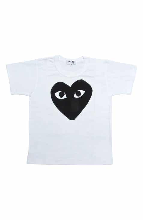 1a318506 Comme des Garçons PLAY Black Heart Graphic T-Shirt (Toddler & Little Kid)