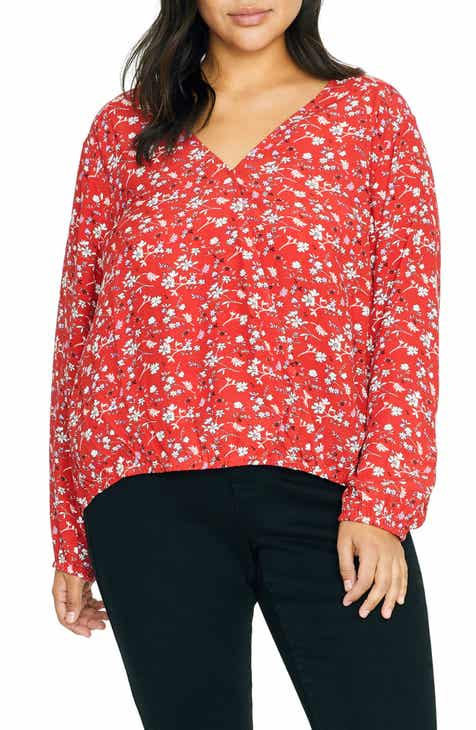 4d5cb0e2561 Sanctuary Cori Blouson Sleeve Surplice Blouse (Plus Size)