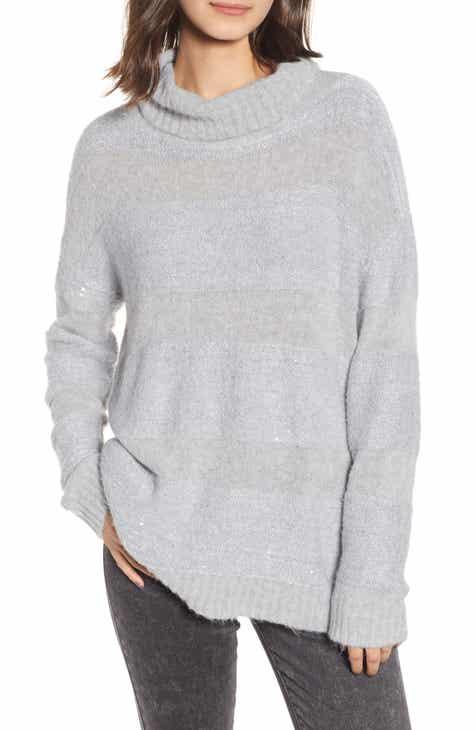 49fdb9f848 Chelsea28 Sequin Stripe Cowl Neck Sweater