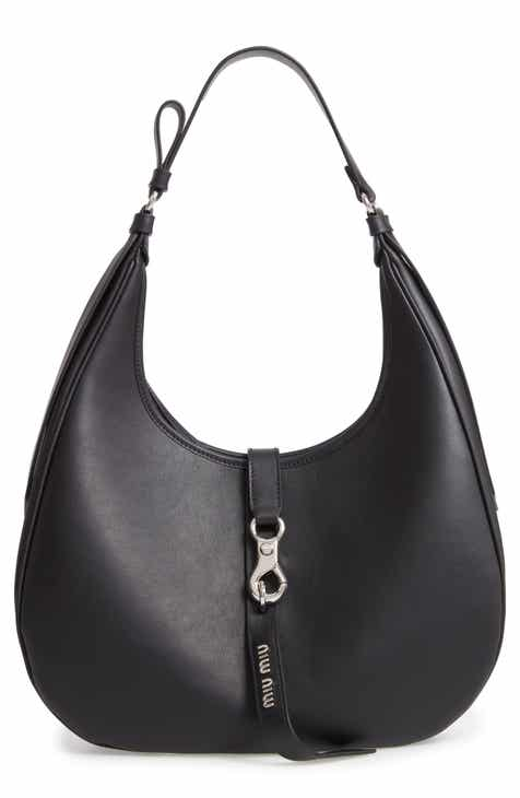 Miu Miu Medium Grace Lux Calfskin Leather Hobo 8f9130ee9e045