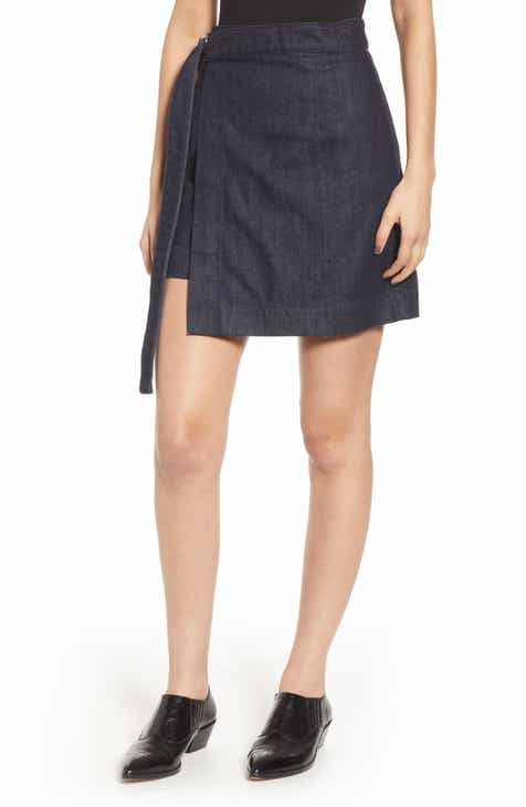 16e59f8a3c1 AG Ahlaia Asymmetrical Wrap Skirt