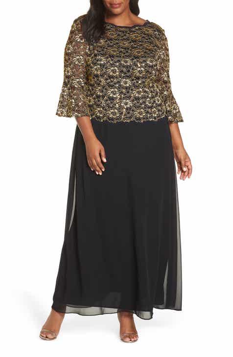 Alex Evenings Lace Illusion Bodice Gown (Plus Size) 5d4292b45