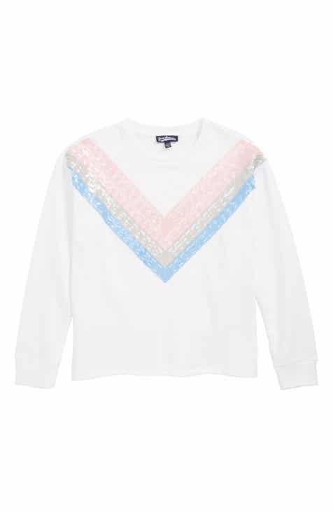 Freshman Sequin Chevron Sweatshirt (Big Girls)