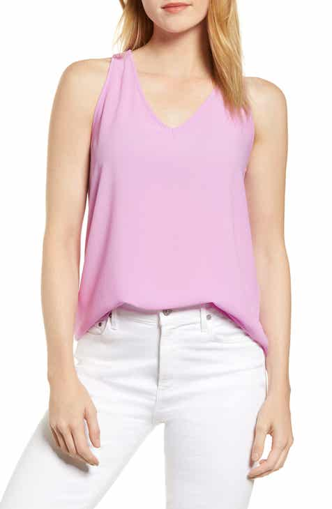 270a0c99034802 Carmel High Low V-Neck Top (Regular   Petite) (Nordstrom Exclusive)