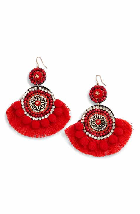 4bde1e7814107d Mad Jewels Bohemian Beaded Statement Earrings