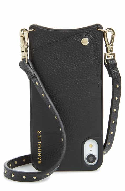 Bandolier Nicole Pebbled Leather X Xs Max Xr Crossbody Case
