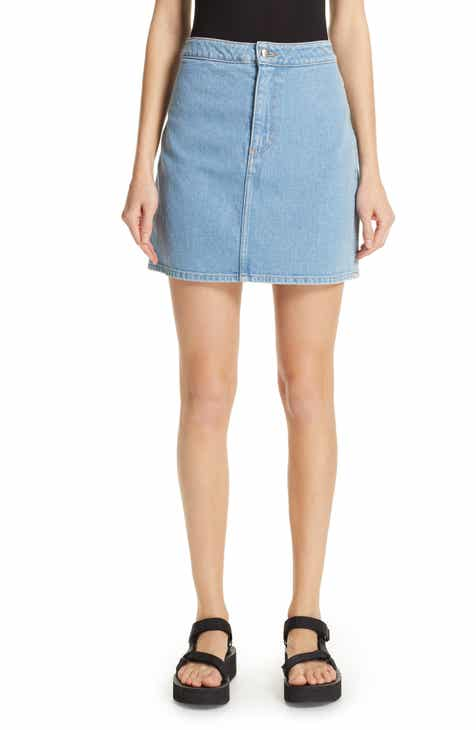 Current/Elliott Reversed Denim Miniskirt by CURRENT/ELLIOTT